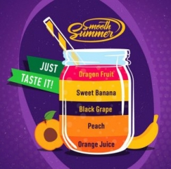 Příchuť Big Mouth Smooth Summer - Mix Fruit 6
