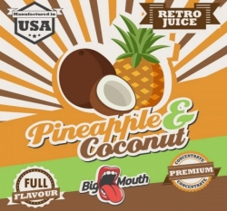 Příchuť Big Mouth RETRO - Pineapple and Coconut