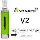 Anyvape EVOD BCC V2 Clearomizer 2,1ohm 1,6ml Green