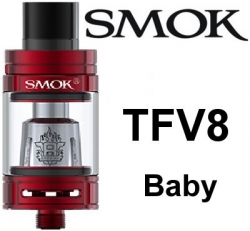 Smoktech TFV8 Baby clearomizer Red
