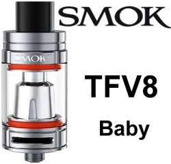 Smoktech TFV8 Baby clearomizer Silver