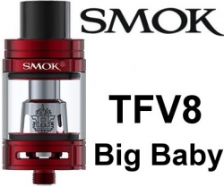 Smoktech TFV8 Big Baby clearomizer Red