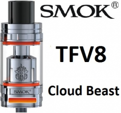 Smoktech TFV8 Cloud Beast clearomizer Silver
