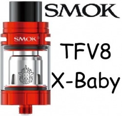 Smoktech TFV8 X-Baby clearomizer Red