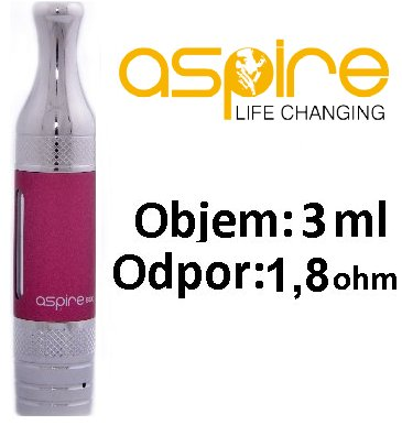 aSpire ET-S Victory BDC clearomizer 3ml 1,8ohm Red