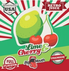 Příchuť Big Mouth RETRO - Lime and Cherry