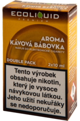 ECOLIQUID PREMIUM 2PACK Kávová bábovka 2X10ML - 3MG