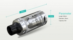 Wismec REUX clearomizer Silver