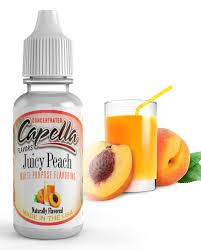 Příchuť Capella 13ml Juicy Peach (broskvový nápoj)