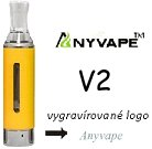 Anyvape EVOD BCC V2 Clearomizer 2,1ohm 1,6ml yellow