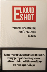 5 x 10 ml E-Liquid Shot Booster 70/30 20 mg/ml