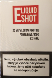 5 x 10 ml E-Liquid Shot Booster 50/50 20 mg/ml