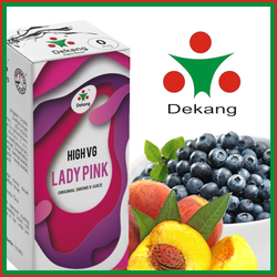 LIQUID DEKANG HIGH VG LADY PINK 10ML (BORŮVKA S BROSKVÍ)