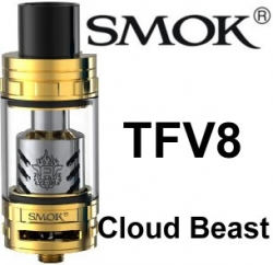 Smoktech TFV8 Cloud Beast clearomizer Gold