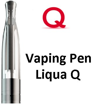 Liqua Q Vaping Pen clearomizer 2ohm 2ml Black