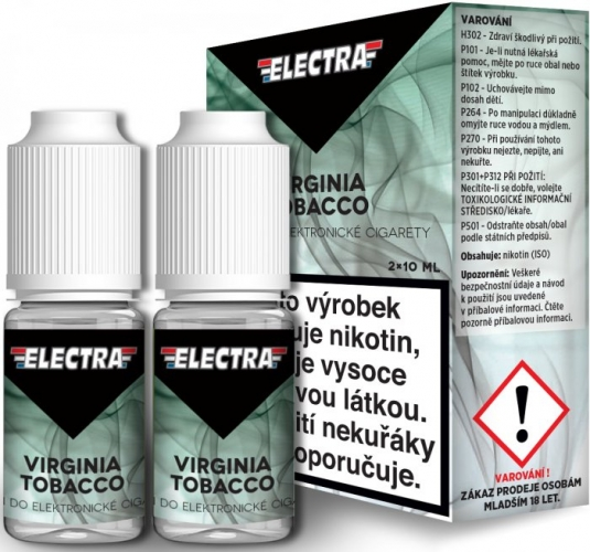 Liquid ELECTRA 2Pack Virginia Tobacco 2x10ml - 0mg