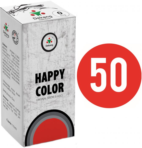 Liquid Dekang Fifty HAPPY COLOR 10ml (tabák)